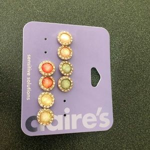 Claire's 4 ct earrings new